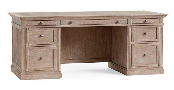 "**Livingston large desk in grey wash, $2999, [Pottery Barn](https://www.potterybarn.com.au/livingston-large-desk?quantity=1&attribute_1=Grey%20Wash|target=""_blank""