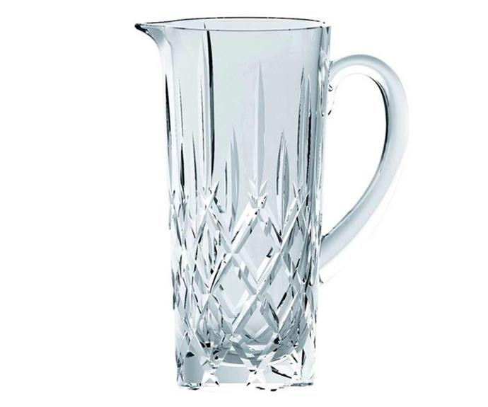 "**Nachtmann 1.2L Noblesse Pitcher, $74.95, [Catch.com.au](https://www.catch.com.au/product/nachtmann-1-2l-noblesse-pitcher-6602878/?st=8&sp=37&asp=&aqi=|target=""_blank""