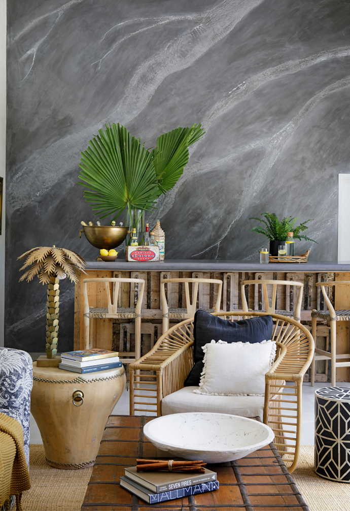 """The [home bar](https://www.homestolove.com.au/how-to-create-the-perfect-bar-at-home-15486