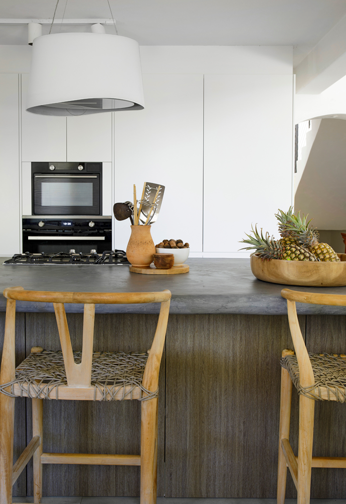 """The heart of the space is a generous [island bench](https://www.homestolove.com.au/15-game-changing-kitchen-islands-for-your-renovation-13253
