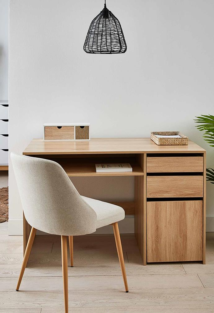 "Desk with Storage – Oak, $119, [Kmart](https://www.kmart.com.au/product/desk-with-storage-oak/3413801|target=""_blank""