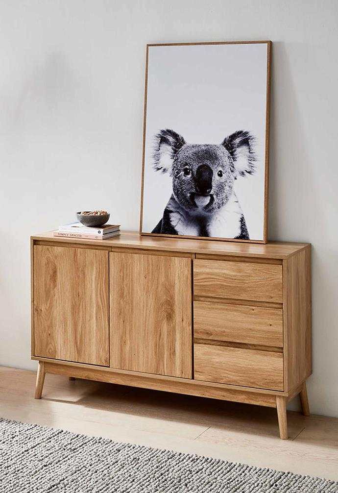 "Thorne Buffet Unit – Brown, $149, [Kmart](https://www.kmart.com.au/product/thorne-buffet-unit---brown/3379305|target=""_blank""