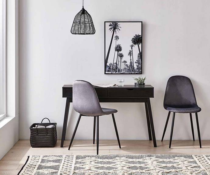 "Velvet Chairs, $119/set of two, [Kmart](https://www.kmart.com.au/product/set-of-2-velvet-chairs/3378320|target=""_blank""
