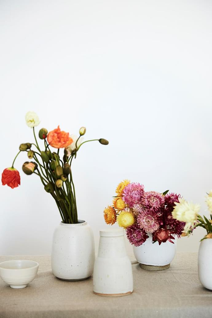 "The [studio of Sydney florist and stylist Christelle Scifo](https://www.homestolove.com.au/sydney-florist-and-stylist-christelle-scifo-fleurette-19037|target=""_blank""), boasts an abundance of delicate blooms. Photographer: Kristina Soljo 