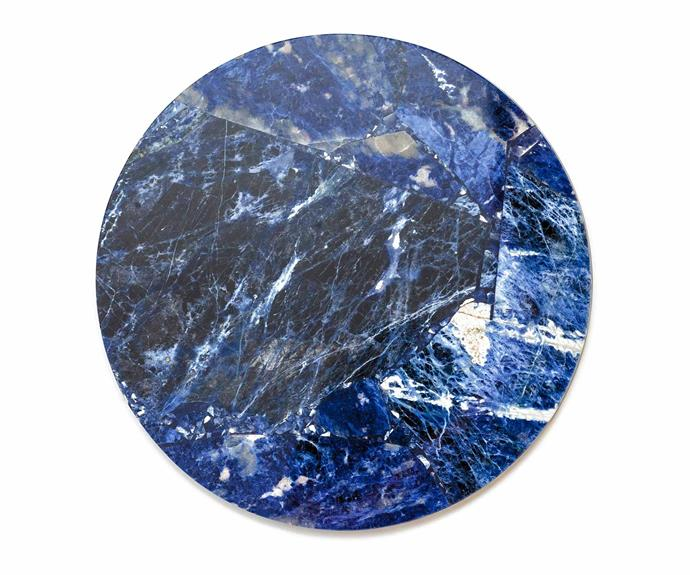 """**Circle Tray – Sodalite, $275, [Stoned Crystals](https://www.stonedcrystals.com/product/circle-tray-sodalite/?v=6cc98ba2045f