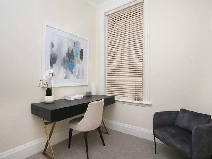 """The two-bedroom apartment even has enough space for a [home office](https://www.homestolove.com.au/home-office-ideas-13393