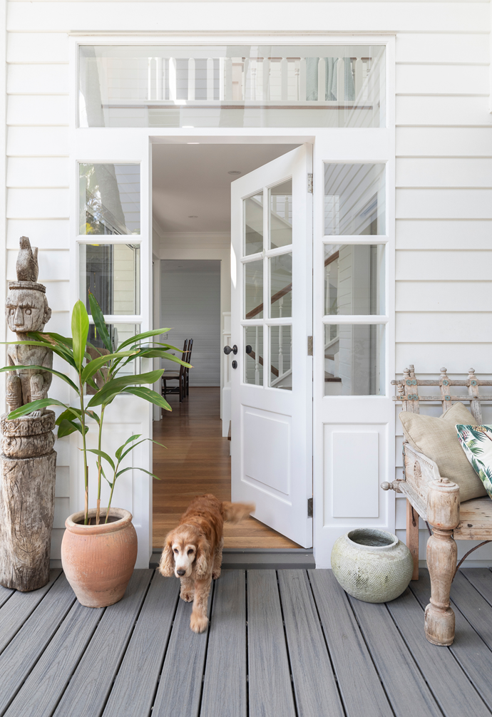 """Perfectly positioned on Queensland's glorious Sunshine Coast, the holiday home Jo shares with husband Steve and their extended family has been transformed into the couple's ultimate vision of a welcoming getaway. Even family pooch Bella loves visiting the idyllic residence every chance she gets. """"Bella gets so excited when we head off to the [beach house](https://www.homestolove.com.au/beach-house-style-8903