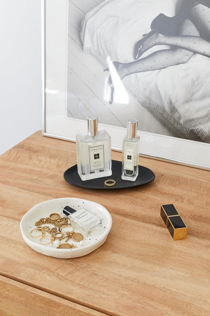 """An Organised Life founder, Beck Wadworth, has the perfect solution to storing her jewellery in [her minimalist home](https://www.homestolove.com.au/beck-wadworth-home-tour-21262