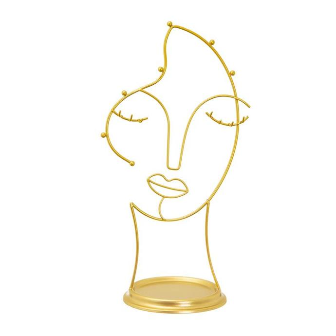 """Wire Gold Full Face Abstract Jewellery Stand by bouxjewelshop, $46.81, [Etsy](https://www.etsy.com/au/listing/765186983/wire-gold-full-face-abstract-jewellery?ga_order=most_relevant&ga_search_type=all&ga_view_type=gallery&ga_search_query=jewellery+stand&ref=sc_gallery-1-1&plkey=74a4cd4ba2f8aabbbdcee7eae9c99dfcfa53c746%3A765186983&bes=1