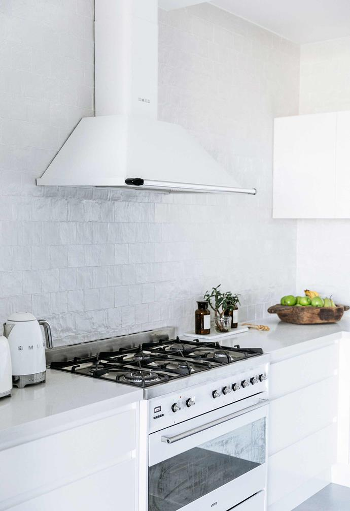 """**Kitchen** In keeping with the all-white palette of the home, white [Smeg](https://www.smeg.com.au/