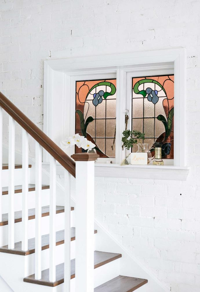 **Living area** Immaculate stained-glass windows are a welcome reminder of the home's past.