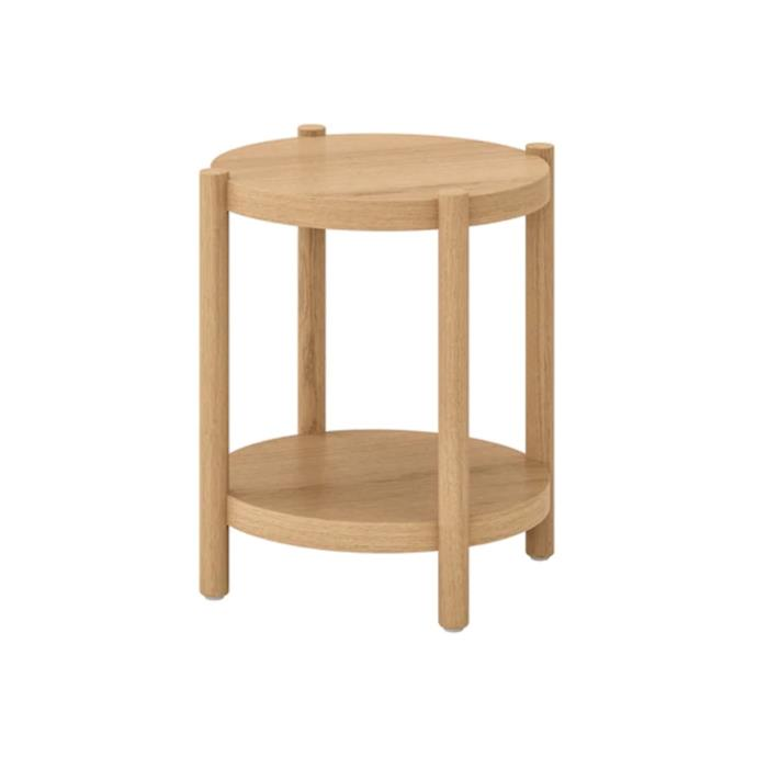 "**Listerby bedside table, $99, [Ikea](https://www.ikea.com/au/en/p/listerby-side-table-white-stained-oak-90409042/|target=""_blank""