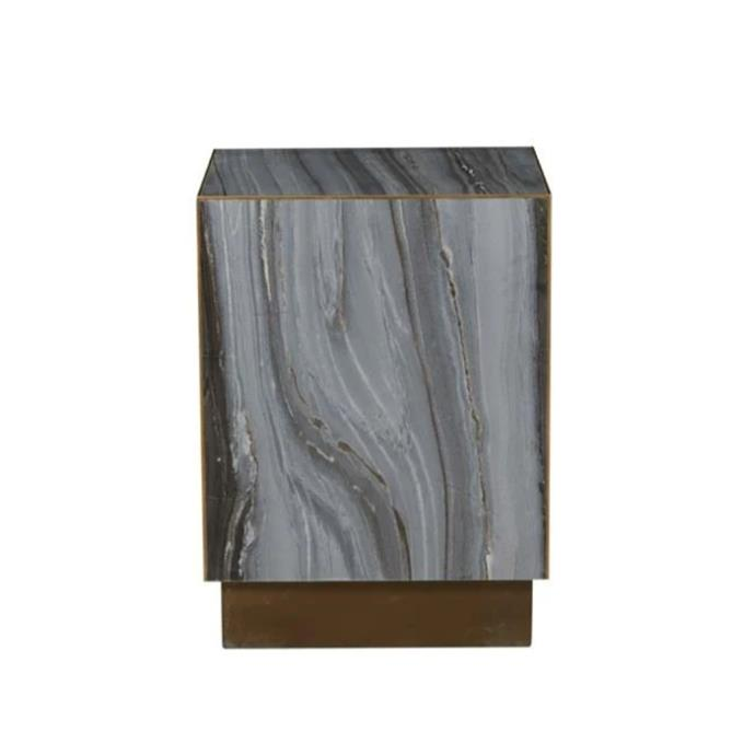 "**Verona block marble side table, $1215, [Globe West](https://www.globewest.com.au/browse/verona-block-marble-side-table|target=""_blank""