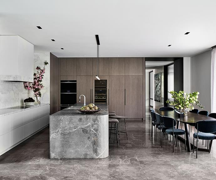 Beautifully crafted integrated wine storage, refrigerators and freezers elevate the contemporary marble aesthetic with longevity in mind.