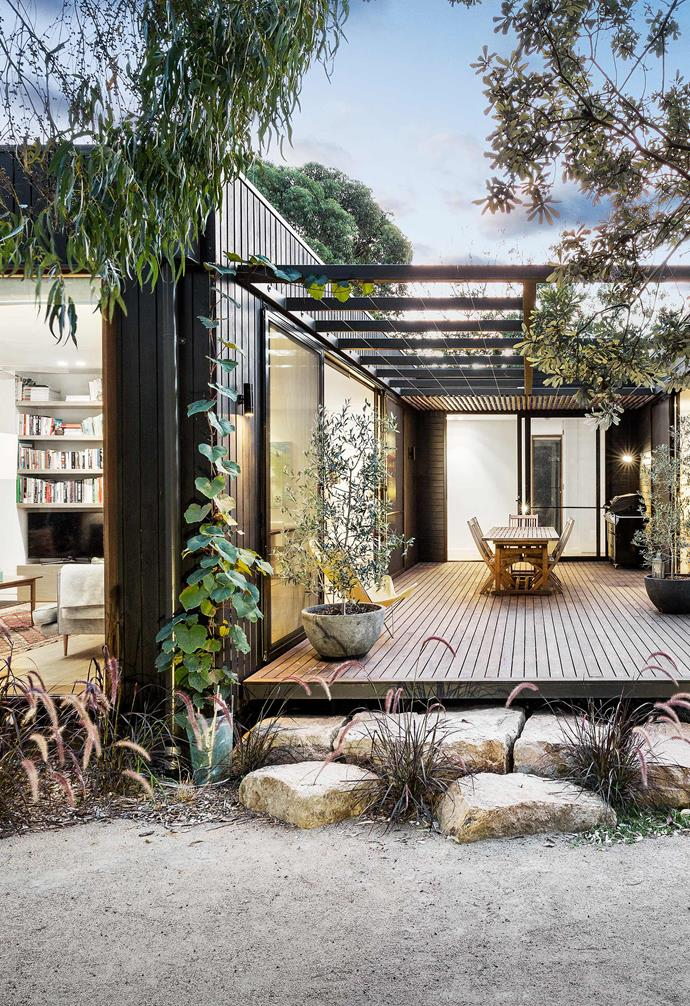A modern take on the Australian beach house, this modular design by Prebuilt is prefab but its owners still had a lot of scope to tailor.