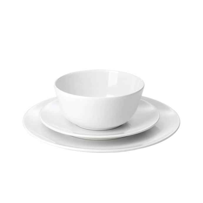 """**BUDGET**<p> <P>If you're living in a share house and tired of opening the cupboards to find you've run out of plates or bowls, you'll be glad to know you can get an all-new 12-piece dinner set for as little as $29.99 at Ikea. <P> <p>FLITIGHET 18-piece set, $29.99, from [Ikea](https://www.ikea.com/au/en/p/flitighet-18-piece-service-white-50333921/