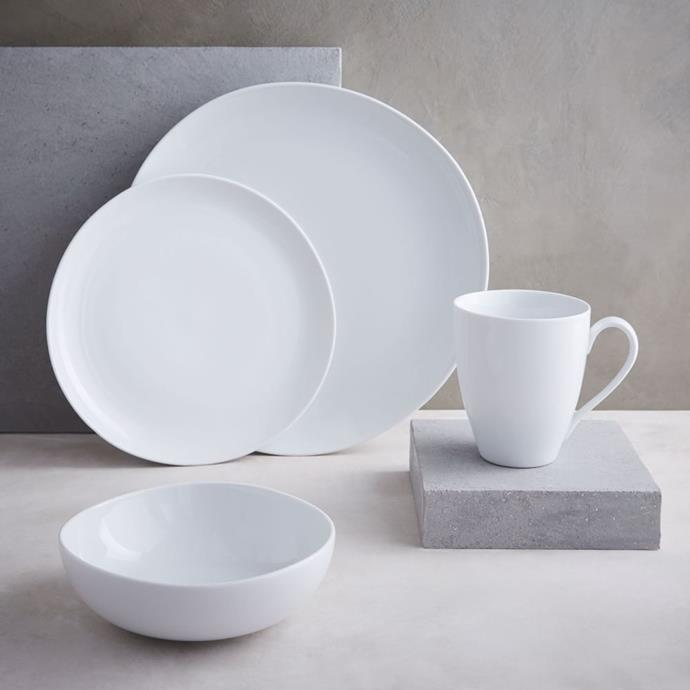 """**ORGANIC**<p> <p> The natural form and organic shape of this dinner set would be an elegant and stylish edition to formal table settings or casual mornings around the breakfast table. Crafted from porcelain, it's an affordable but hardy set, perfectly suited to family life. <p> Organic Shaped Porcelain Dinnerware, from $8, [West Elm](https://www.westelm.com.au/mrk-organic-shaped-dinnerware-set-d769