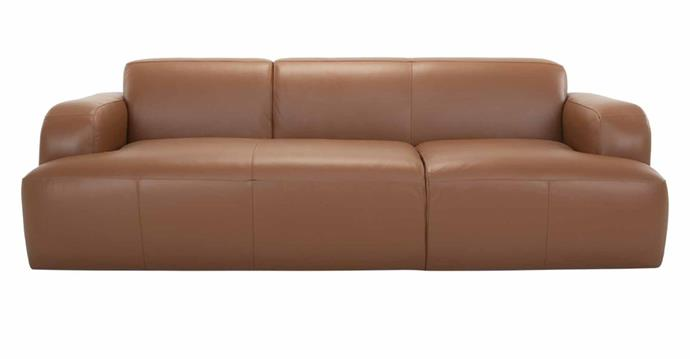 """**Brooklyn Leather 3-Seater Sofa, $2995, [Life Interiors](https://lifeinteriors.com.au/collections/sofas/products/life-interiors-brooklyn-leather-3-seater-sofa