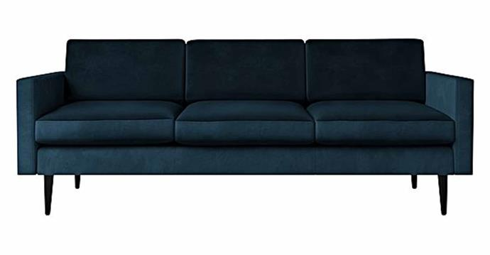 """**Helene Velvet 3-Seater Sofa, $1699, [Zanui](https://www.zanui.com.au/Helene-Velvet-3-Seater-Sofa-183333.html