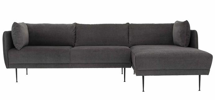 """**Life Interiors Memphis 3-Seater Right Chaise Lounge, $2492, [Zanui](https://www.zanui.com.au/Memphis-3-Seater-Right-Chaise-Lounge-Velvet-173206.html