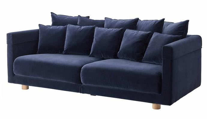 """**Stockholm 2017 3-Seater Sofa, $2199, [IKEA](https://www.ikea.com/au/en/p/stockholm-2017-three-seat-sofa-sandbacka-dark-blue-30344591/