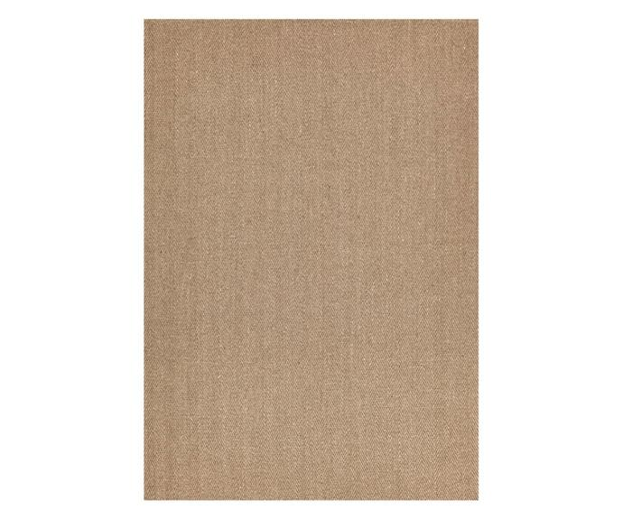 """<P>**Natural sisal herringbone rug in brown, $169, (220 x 150cm), available at [Sydney Rugs Online](https://www.sydneyrugsonline.com.au/collections/sisal-rugs/products/natural-sisal-rug-herring-bone-brown