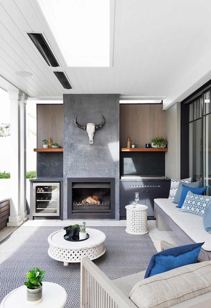 """The outdoor kitchen of this revamped [1870s heritage home](https://www.homestolove.com.au/sydney-1870s-heritage-house-restoration-6030