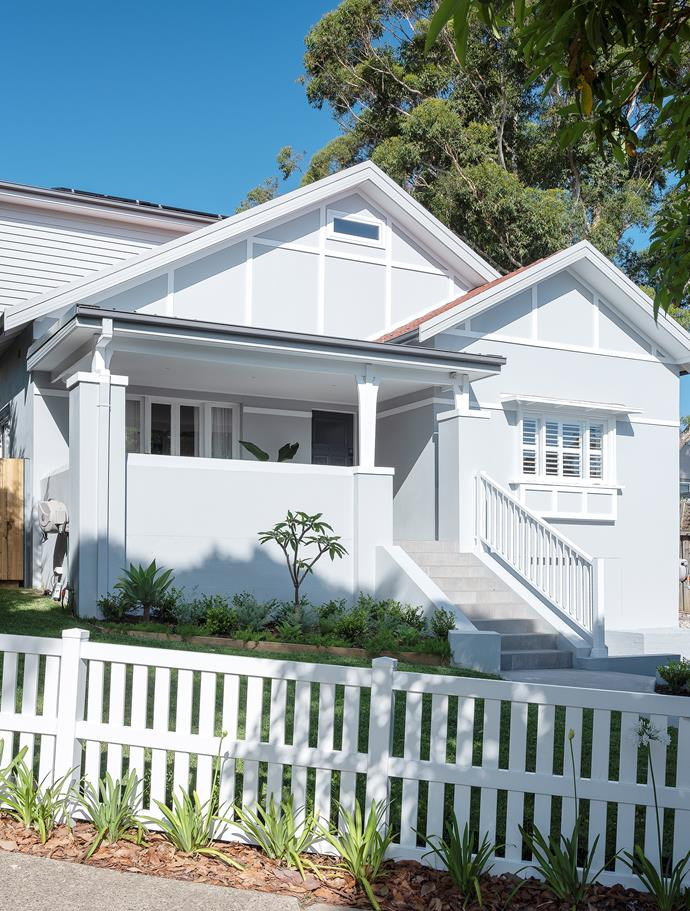 The exterior of the house was simply refreshed with a coat of Dulux Milton Moon.