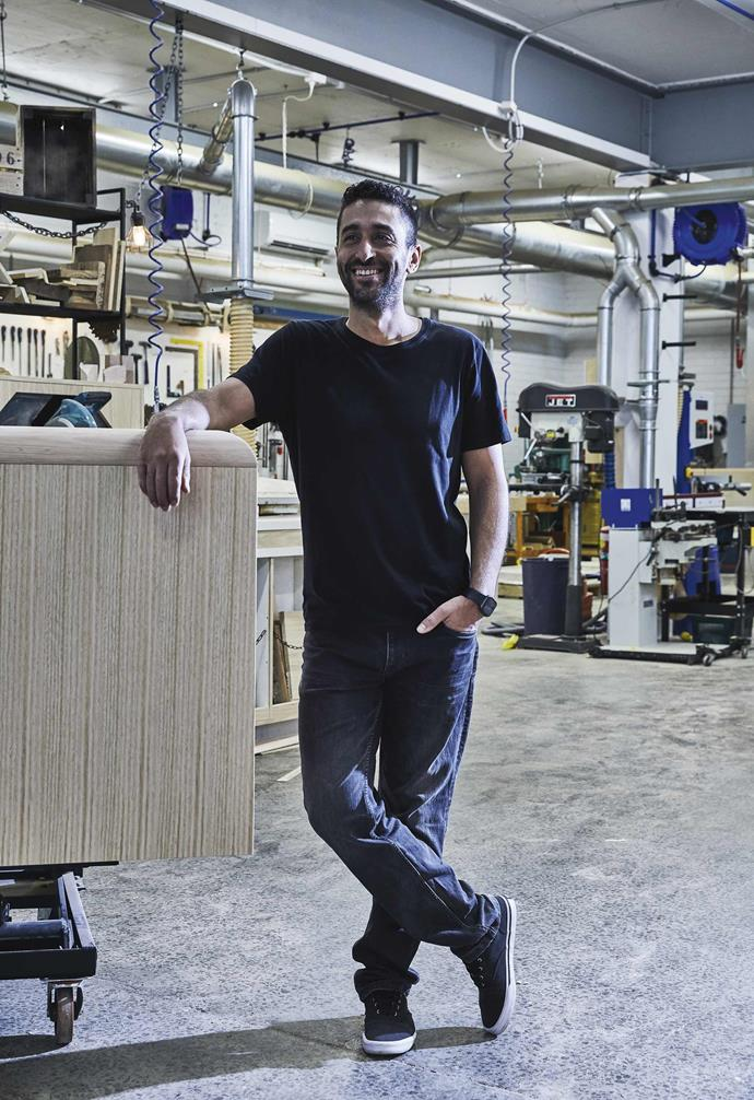 Inspired by his grandfather's passion for custom furniture, Nick Pedullá established his studio.