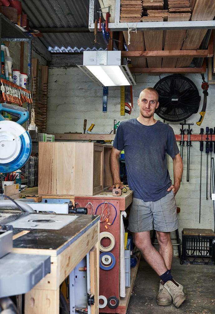Jack Stannard in the Iluka Studio workshop.