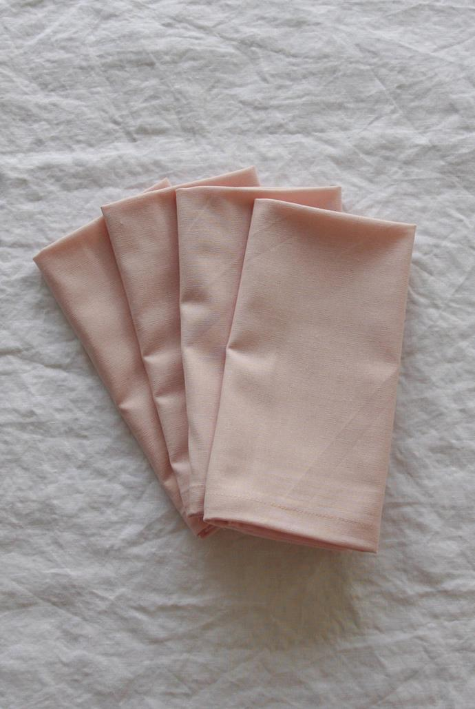 """The prettiest napkins in town. Linen Social's blushing pink napkins are the ideal accessory for high teas at home or long brunches on the [outdoor dining setting](https://www.homestolove.com.au/10-of-the-best-outdoor-furniture-sets-13241