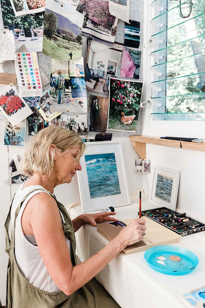 """""""When I was 40, I started art classes,"""" says Vicki. """"And when I turned 60, I declared I was doing it full time. You can find Vicki's work on Instagram [@vickilemoart](https://www.instagram.com/vickilemoart/