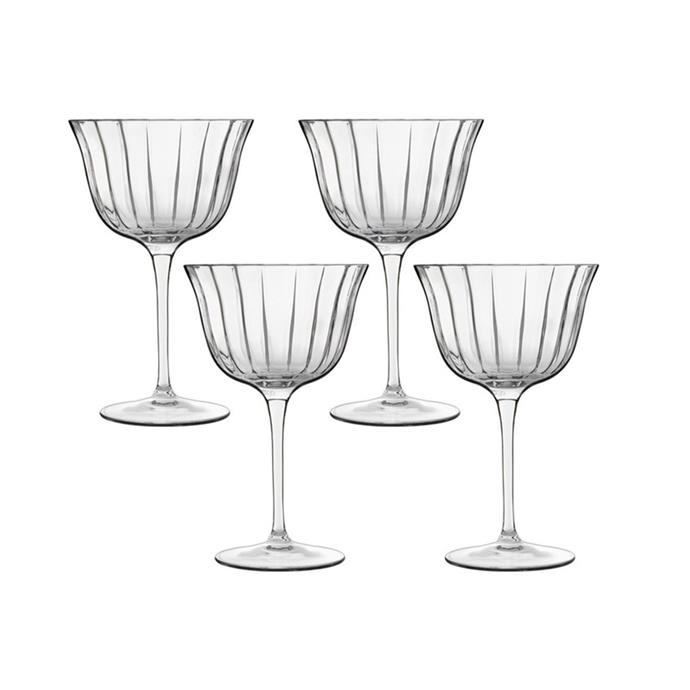 "**Luigi Bormioli 'Retro Fizz' glasses, $39.97/set of 4, [Myer](https://www.myer.com.au/p/luigi-bormioli-bach-260ml-retro-fizz-set-of-4|target=""_blank""