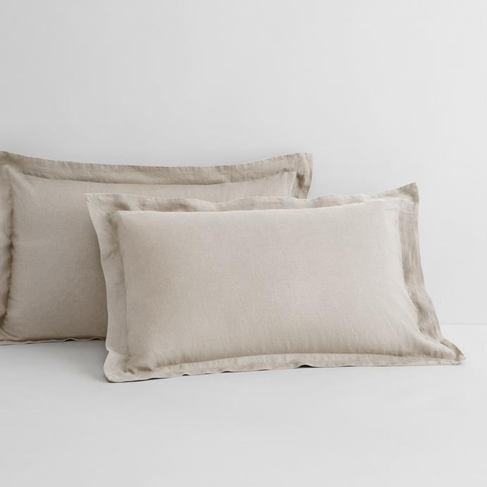 """These neutral and sophisticated pillow covers will suit all bedroom styles. Due to their natural hue, the pillows can also be paired and layered with other neutral toned bedding to create a calm, design-led space.  <br><br> Abbotson Linen Pillowcase Pair, from $119.95, [Sheridan](https://www.sheridan.com.au/abbotson-standard-pillowcase-pair-s28p-b120-c194-12-flax.html