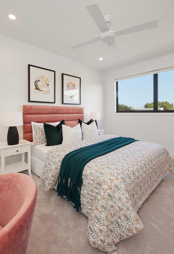 One of four bedrooms, this bedroom focuses on stunning natural views and is beautifully styled.