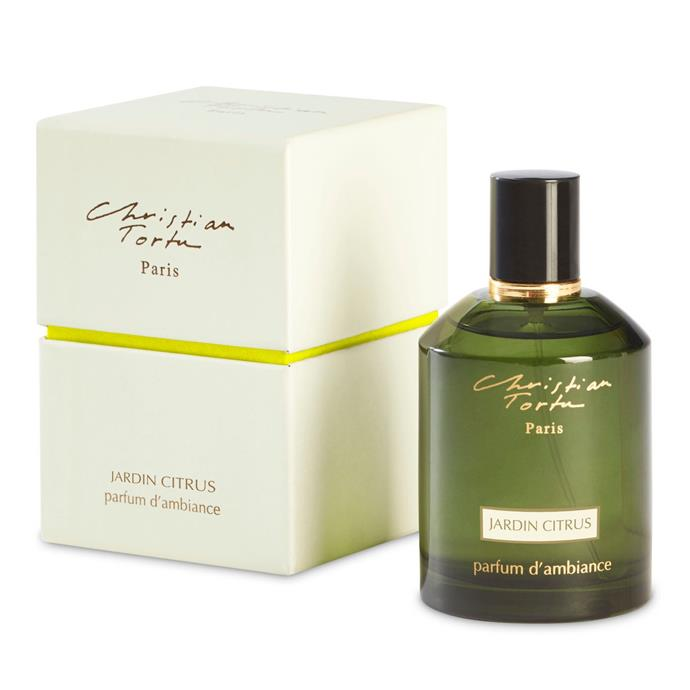"""**1.** If you've ever perused the exquisite stores of Paris you would have noticed that scents are important to the French. Hence, why they are often the creators of the most stunning home scents. Christian Tortu's creation will transport you to the """"hills of southern France like Menton, Liguria in Italy, Portofino or Amalfi, even Andalusis and Morocco."""" Need we say more?  **Christian Tortu Jardin Citrus Room Spray**, $88, [Libertine Parfumerie](https://www.libertineparfumerie.com.au/product/jardin-citrus-room-spray/