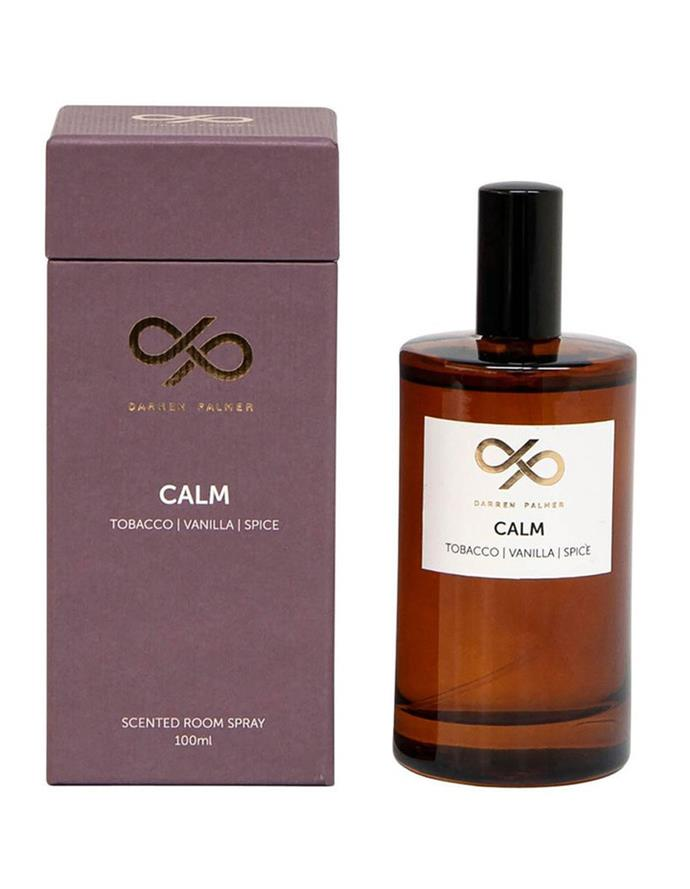"""**10.** Darren Palmer knows how to create and incredible interior so when he turns his hand to home fragrances we sit up and take note. His Calm Room Spray is the perfect unisex blend for a home, with an earthy blend of tobacco, vanilla and spice European essential oils. **Darren Palmer Calm Room Spray**, $26.95, [Myer](https://www.myer.com.au/p/darren-palmer-calm-rom-spray-100ml