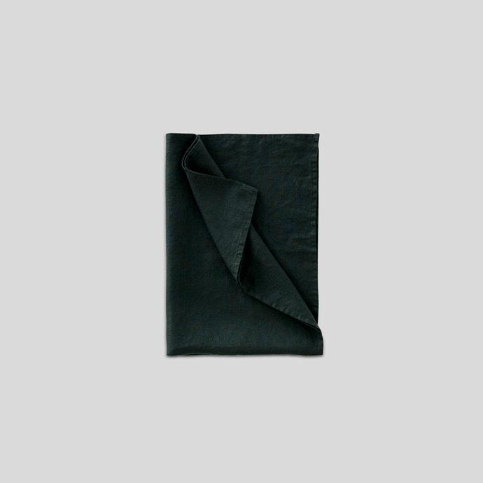 """Say goodbye to your daggy, drab and overused waffle tea-towels with this lovely linen option from In Bed. The dark pine green will cover a multitude of stains and the linen will soak up any moisture and dry beautifully. <br><br> 100% Linen tea towel in Pine, $22, [In Bed Store](https://inbedstore.com/products/100-linen-tea-towel-in-pine