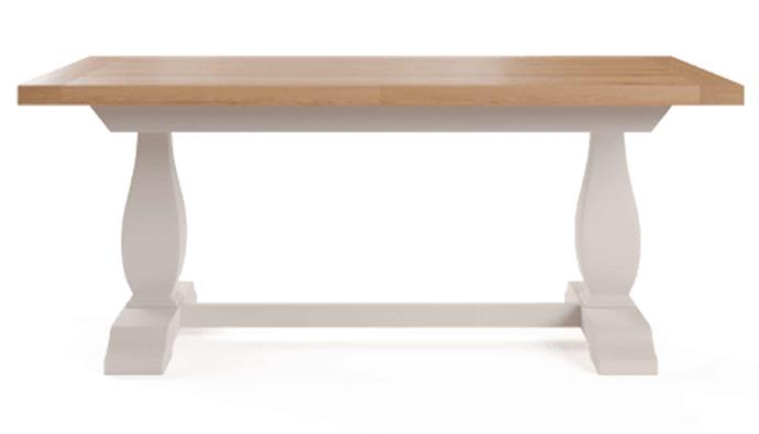 "**Baker Extendable Dining Table, $1349, [Brosa](https://www.brosa.com.au/products/baker-extendable-dining-table-180-230cm?SKU=TBLBAK01WHT|target=""_blank""