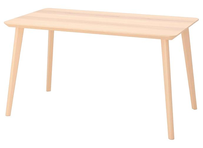 "**LISABO ash veneer dining table, $199, [IKEA](https://www.ikea.com/au/en/p/lisabo-table-ash-veneer-80365717/|target=""_blank""