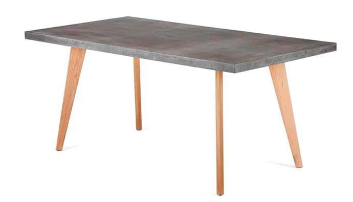 "**Uno Dining Table 180x90cm, $1099, [Lounge Lovers](https://www.loungelovers.com.au/uno-concrete-dining-table-grey|target=""_blank""