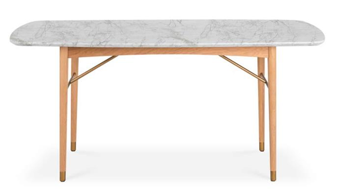 "**Chelsea Marble Dining Table, $1949, [Castlery](https://www.castlery.com/au/products/chelsea-marble-dining-table|target=""_blank""