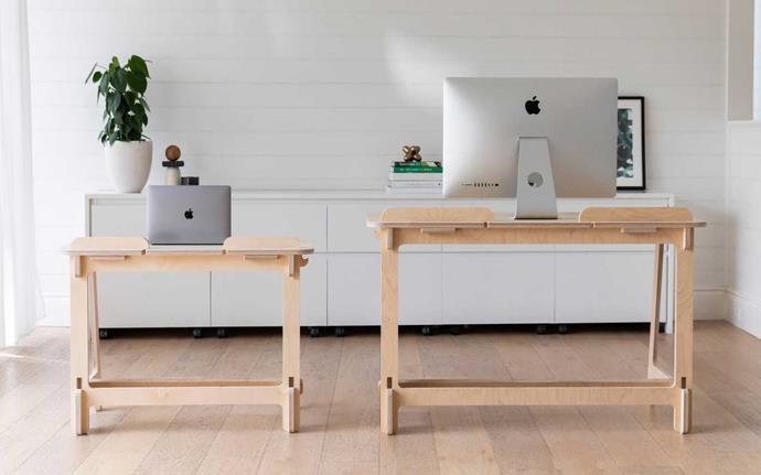 "Koala's WFH desk in kids and adult size, from $300-$400, [Koala](https://au.koala.com/products/koala-wfh-desk|target=""_blank""