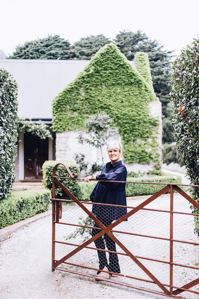 """Melissa and her family have settled in the [Southern Highlands in a home](https://www.homestolove.com.au/melissa-penfolds-french-inspired-country-house-2537