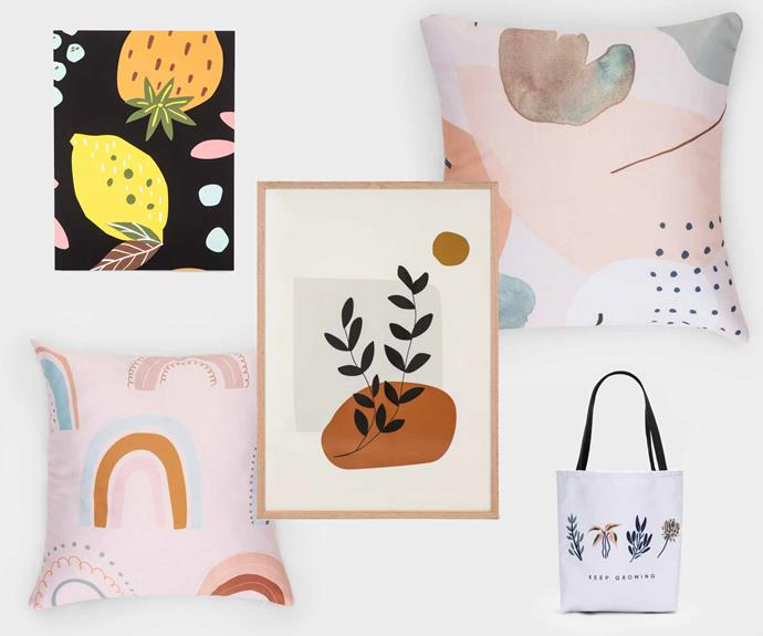 The Kmart Create range includes the ability to customise anything from notebooks, to cushions, to tote bags.