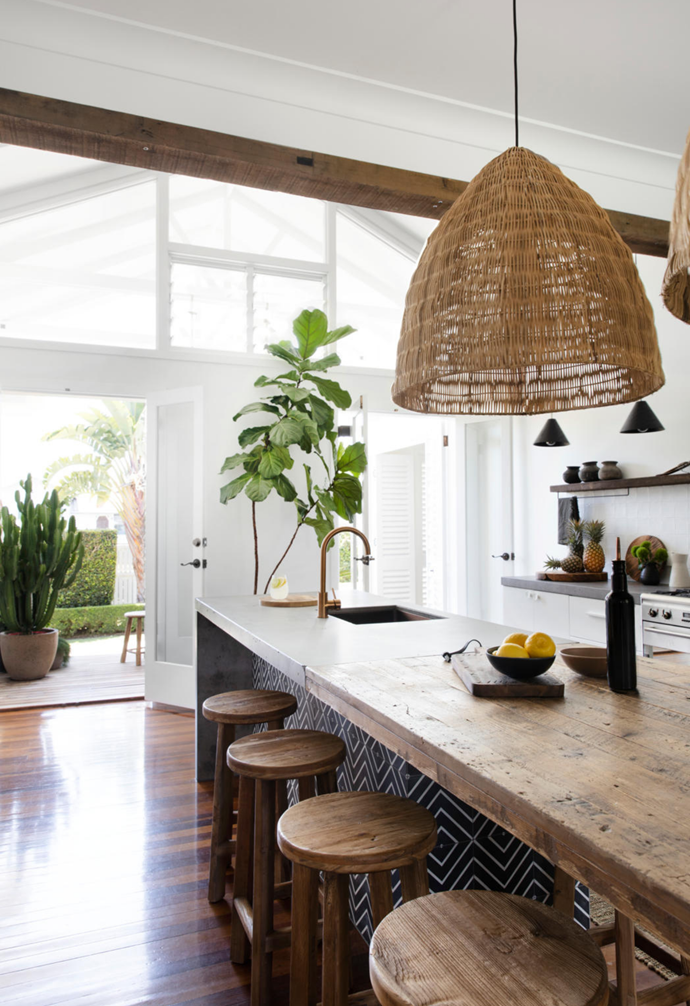 "Jamie and Dave's stunning home in the small town north of Noosa in Queensland scores its fair share of admiring glances. After moving here in 2011 with children Tom and Ivy, the couple spent years cultivating [lush gardens](https://www.homestolove.com.au/backyard-ideas-2981|target=""_blank"") and renovating to create a soulful home brimming with charm."