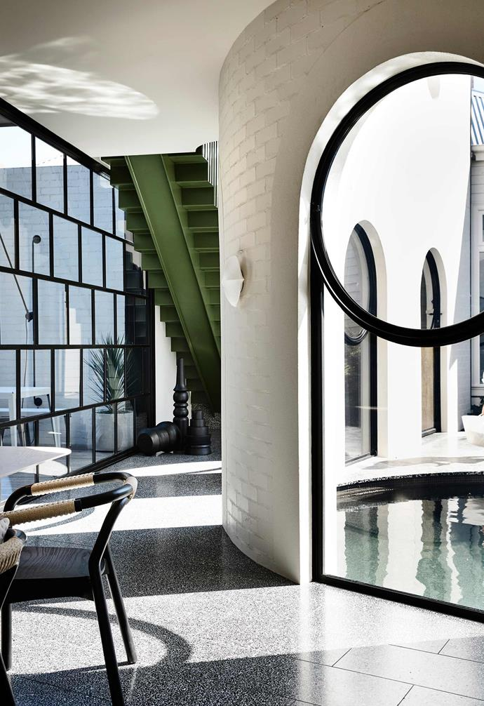 """**Magic circles** Designed by Kennedy Nolan, [this home in Melbourne](https://www.homestolove.com.au/inside-out-home-of-the-year-2019-20784
