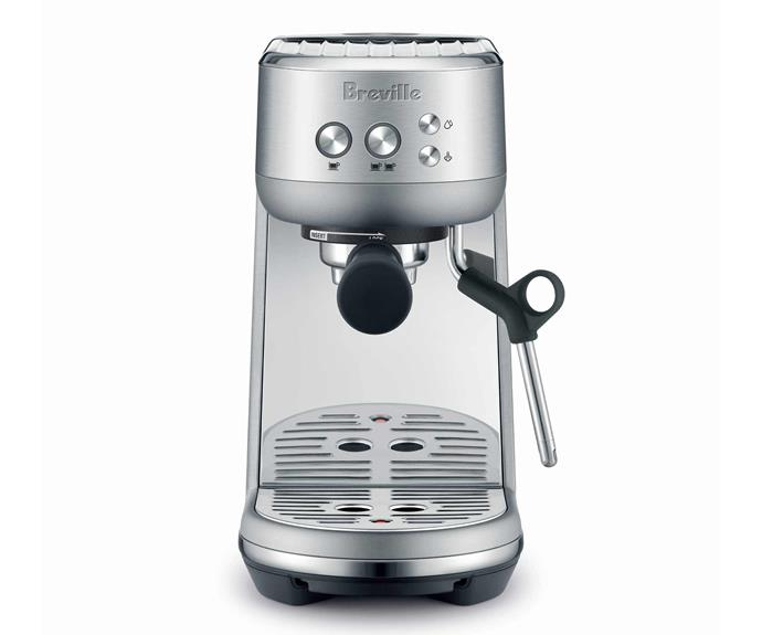 "**The Bambino Espresso Machine, $449, [Breville](https://www.breville.com/au/en/products/espresso/bes450.html|target=""_blank""