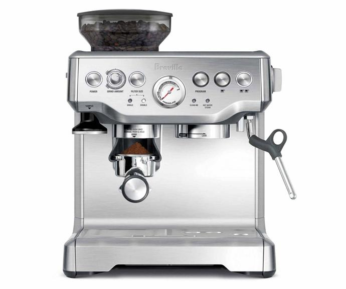 "**Breville The Barista Express automatic coffee machine, $725, [Catch](https://www.catch.com.au/product/breville-bes870sql-barista-express-coffee-machine-charcoal-7220895/|target=""_blank""