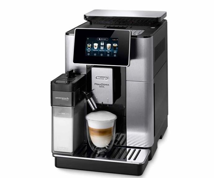 "**DeLonghi PrimaDonna Soul Automatic Coffee Machine, $2295, [Catch](https://www.catch.com.au/product/delonghi-ecam61075mb-primadonna-soul-automatic-coffee-maker-7220894|target=""_blank""